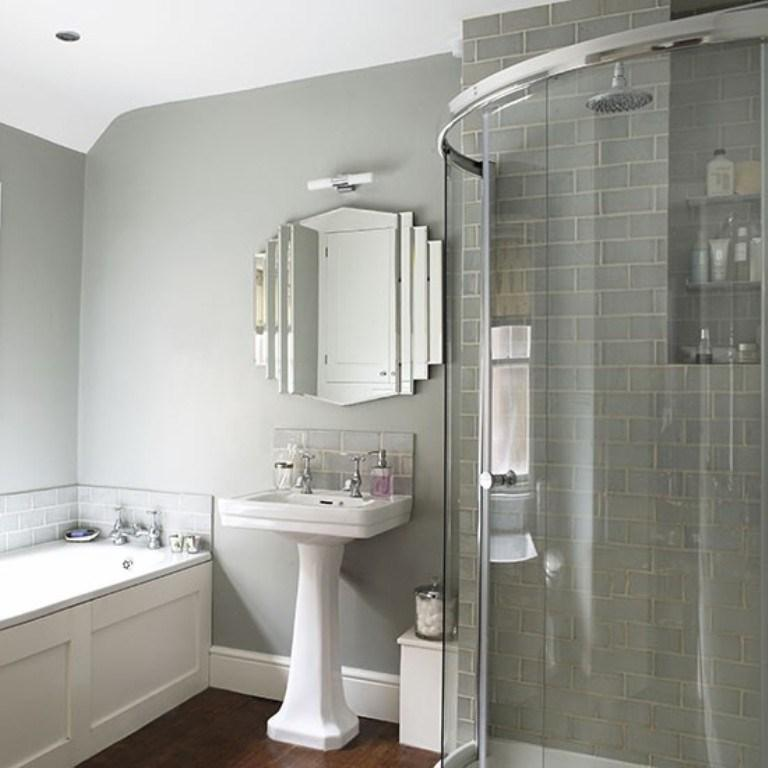 Gray Art Deco Bathroom