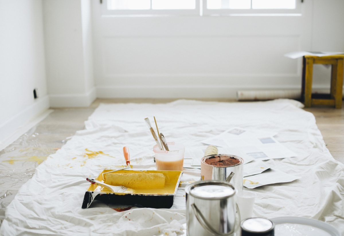 home renovation using paint