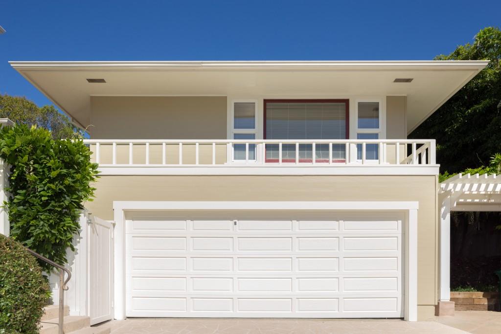 Big garage door of a house
