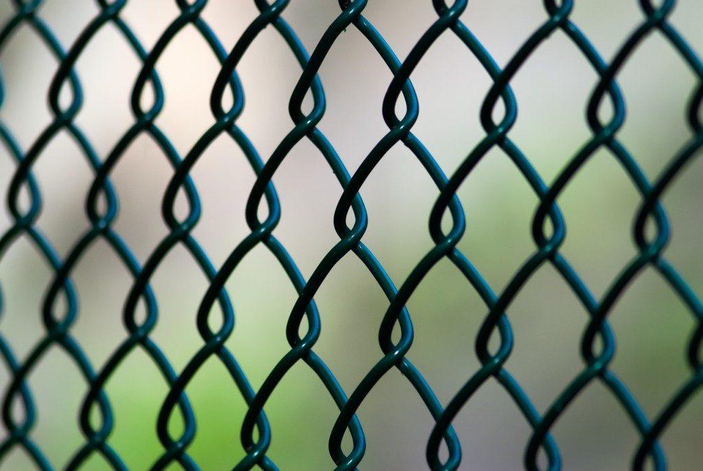 Close up of perimeter fencing
