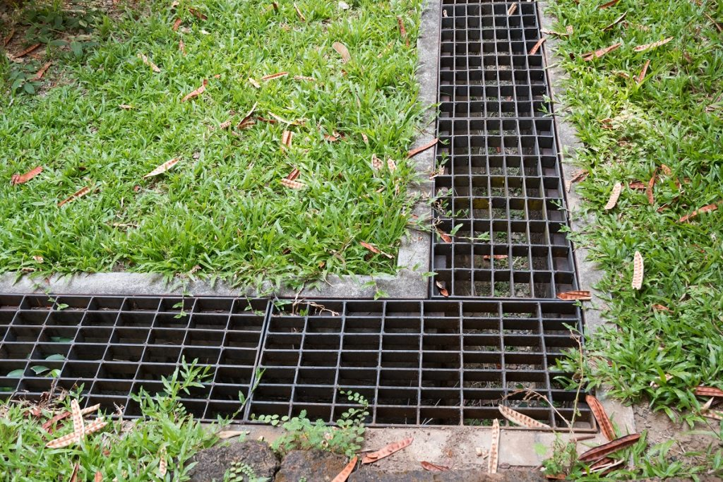 Water drain in the garden