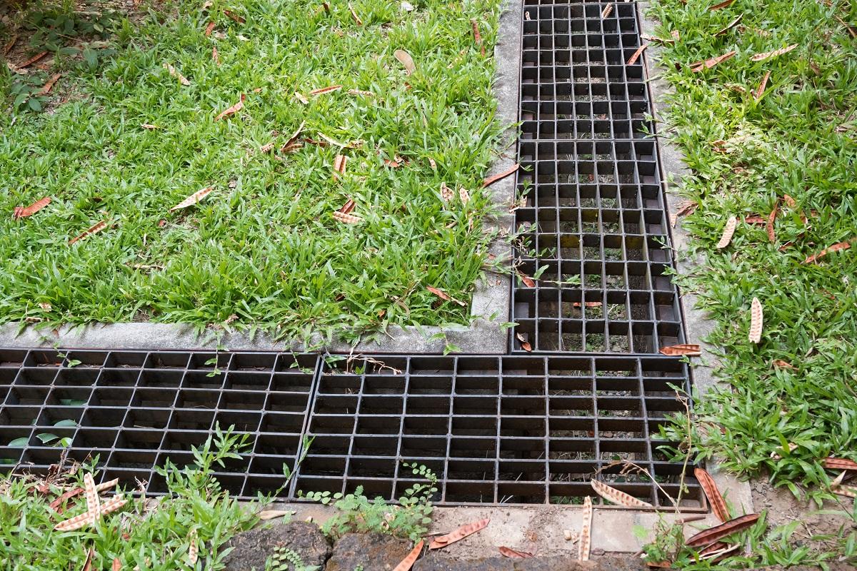 Water drain in the garden