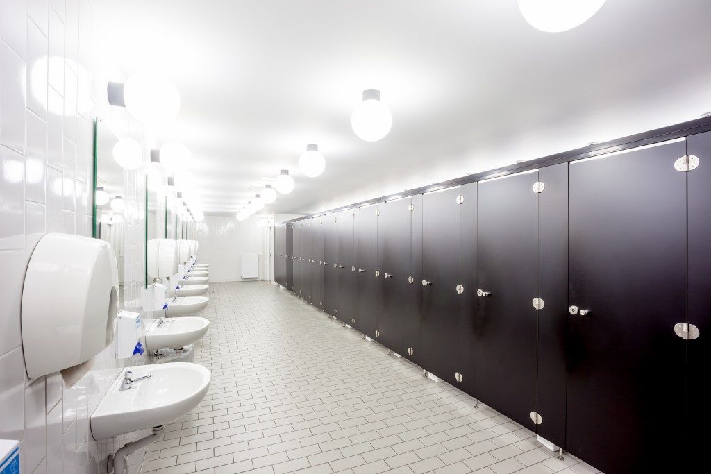 shared commercial bathroom