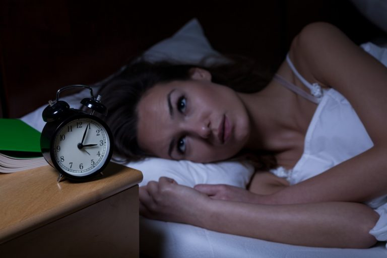 a woman who can't sleep