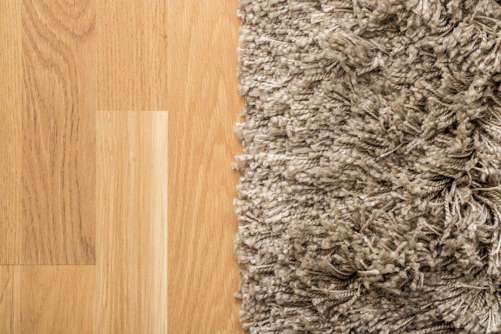 wooden floor and carpet