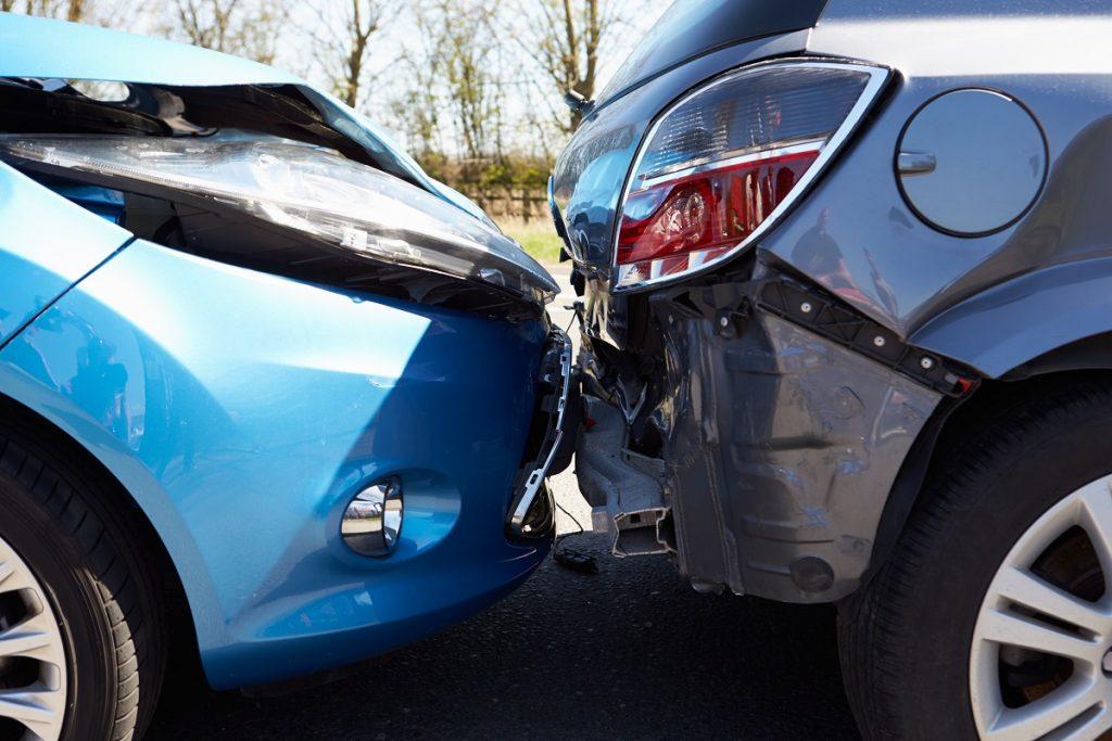 Car bumper crash