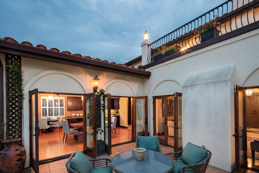 Mediterranean home style with patio
