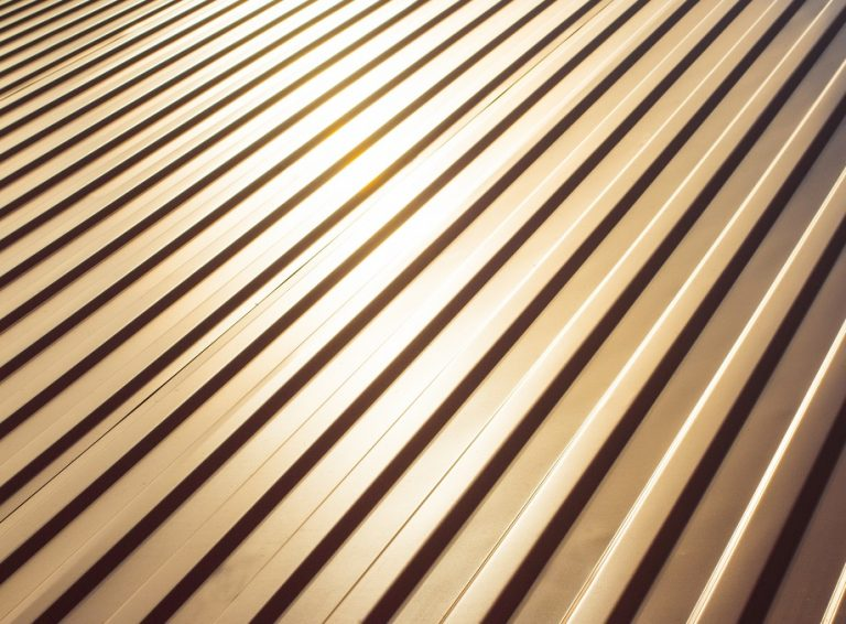 Corrugated galvalume steel