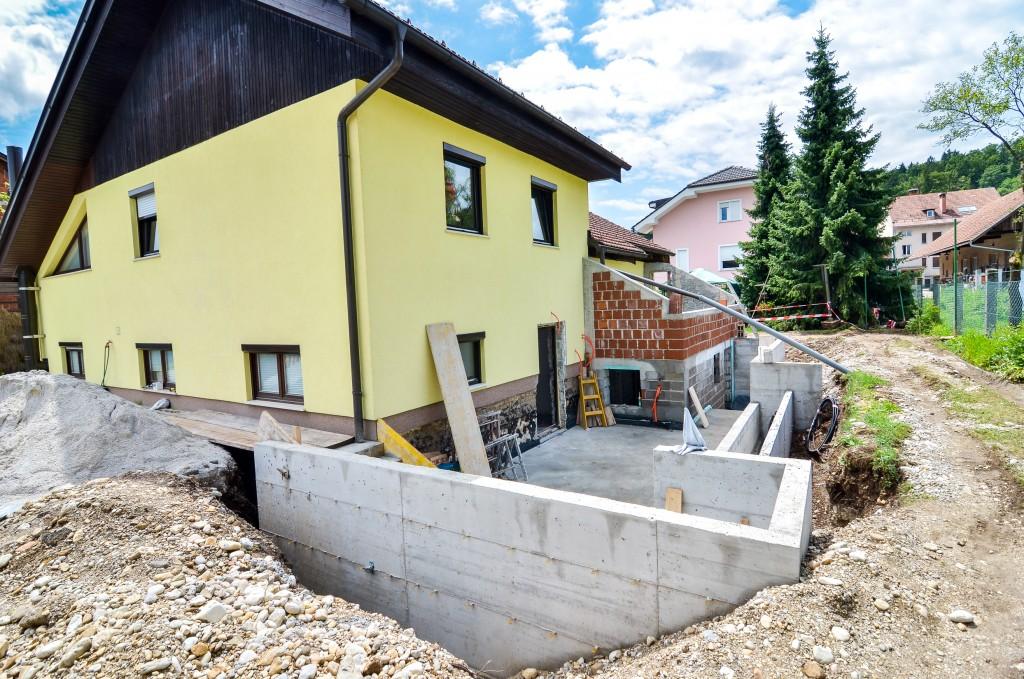 Setting up ground foundation