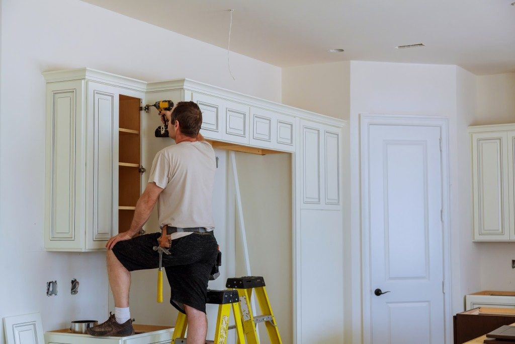 Installing new custom kitchen cabinets