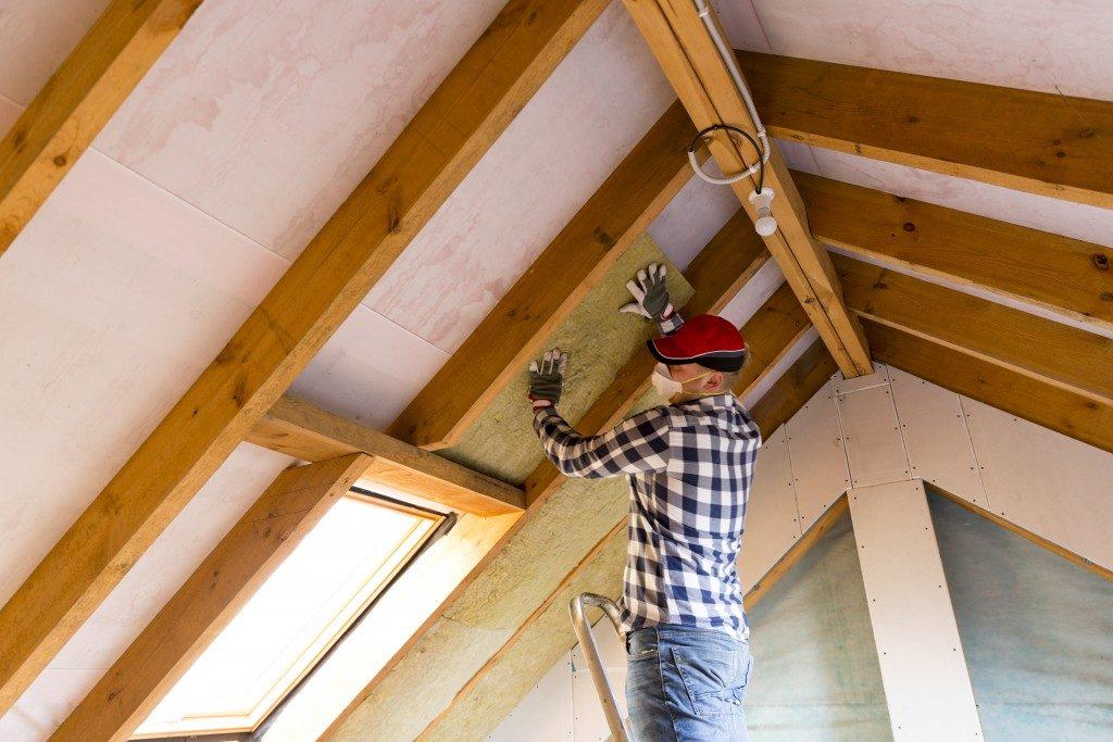 man installing home installation