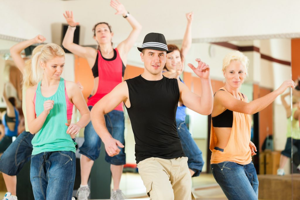 people dancing at a studio