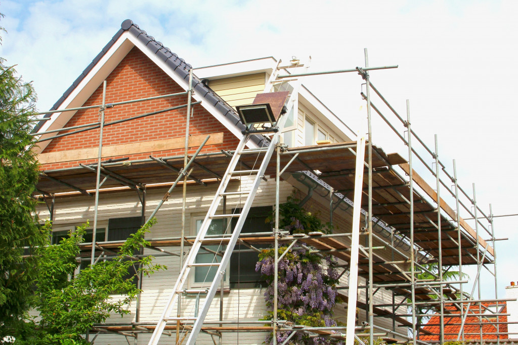 home undergoing renovation