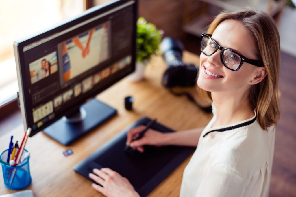 graphic designer working from home