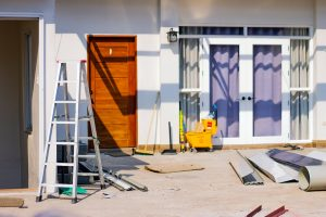 a home under renovation