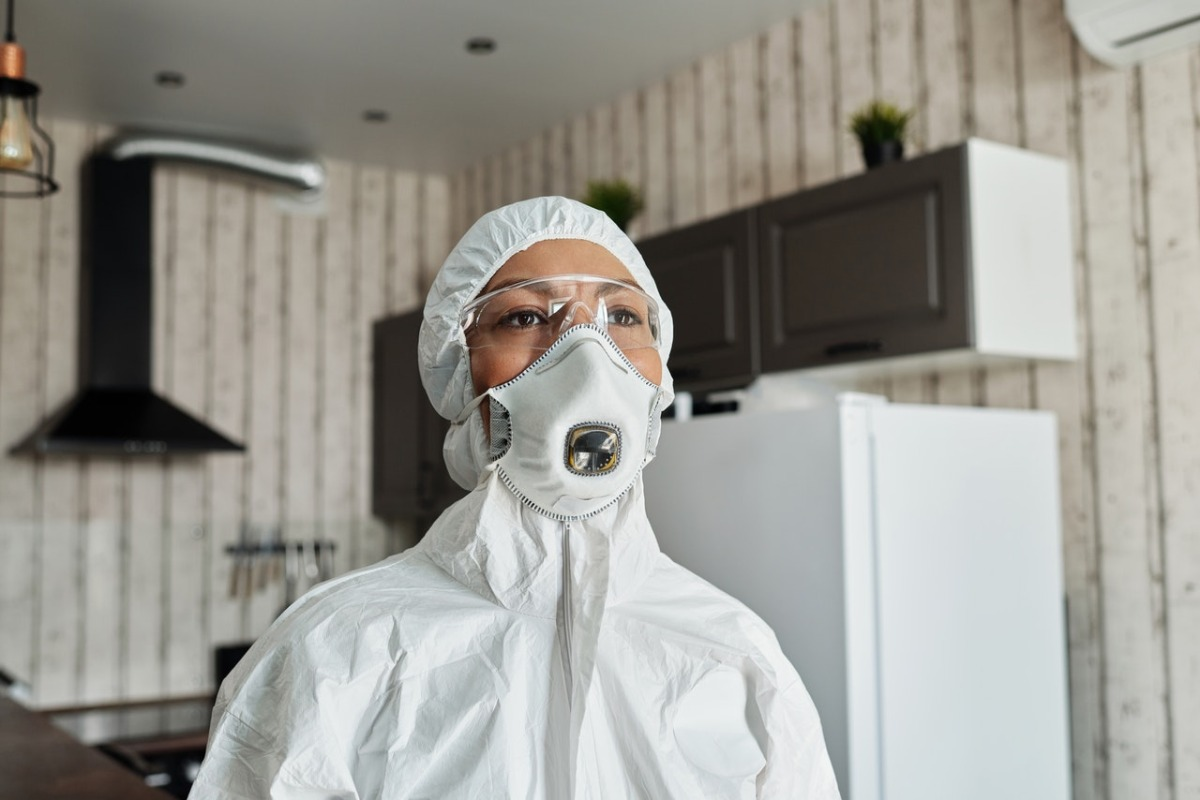 person wearing protective equipment