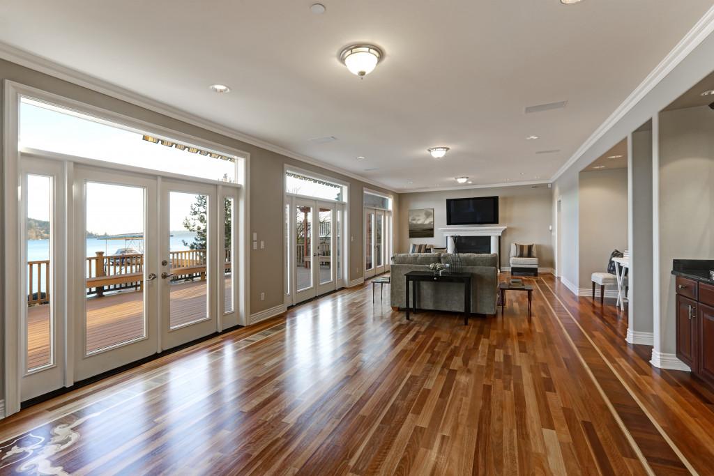 wooden floor, interior