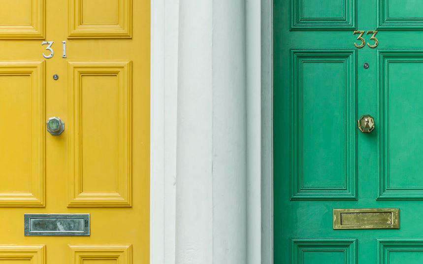 yellow-and-green-door